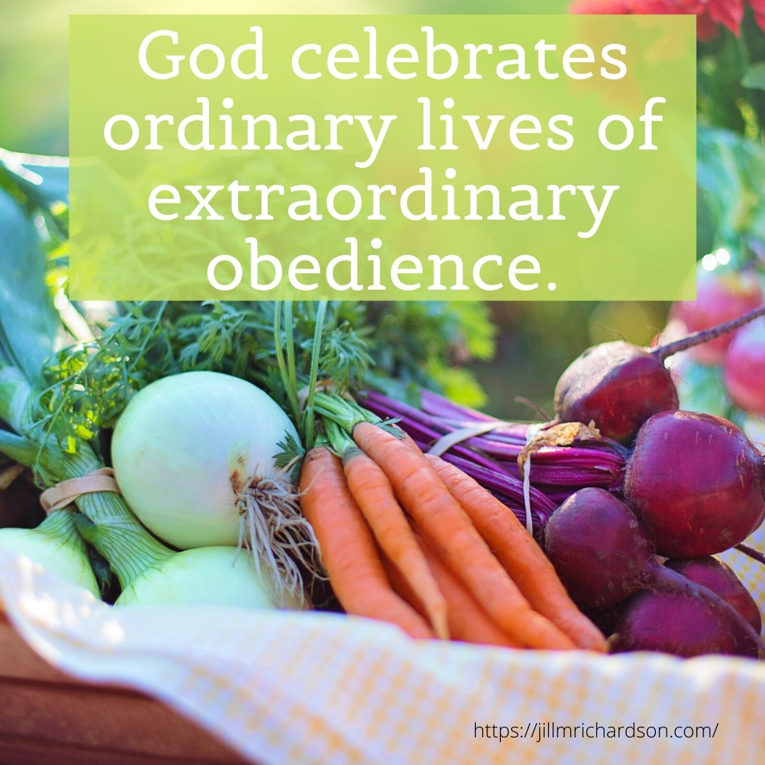 God celebrates ordinary lives of extraordinary obedience. (1)