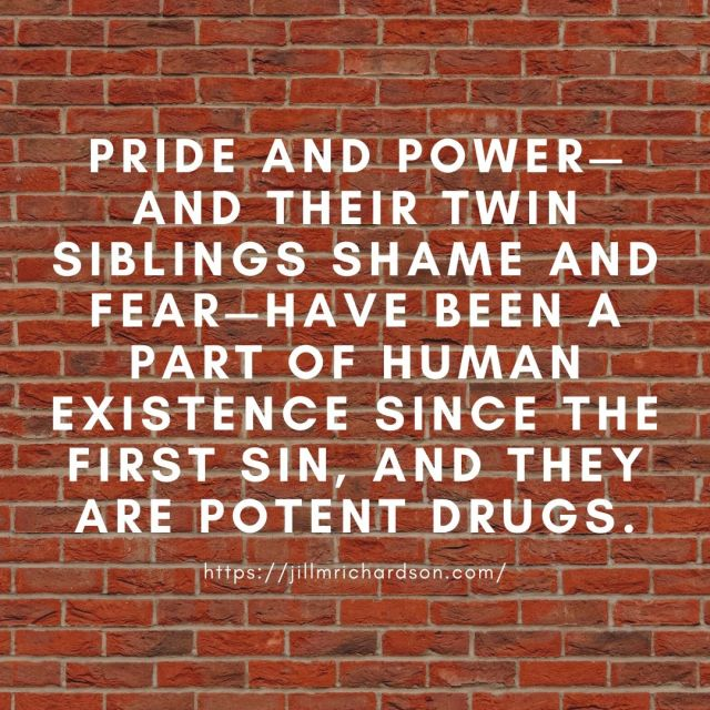 Pride and power—and their twin siblings shame and fear—have been a part of human existence since the first sin, and they are potent drugs.